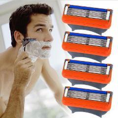 4pcs/Pack Razor Blade For Men Shaving Blades Safety Blades Cassette Shaver Suit For Gillettee Fusione proglide Or Mache 3