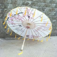 Cos Photography Ancient Costume Prop Tassels Umbrella Ancient Yarn Classical Oiled Paper Animation Umbrella parasol