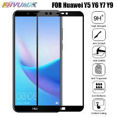 Tempered Glass For Huawei Y5 Y6 Y7 Prime 2018 Y7S Full Screen Protector For Huawei Y6 Y7 Pro Y9 Prime 2019 Protective Glass Film