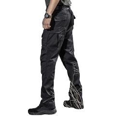 TACVASEN Tactical Pants Men Cotton Straight Multi-pocket Work Cargo Pants Long Military Solider Combat Trousers Casual Pants Men