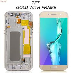 1pcs HH Super Amoled A5 2017 Lcd For Samsung Galaxy A520 Display Touch Screen Digitizer Assembly A520F Display With Frame