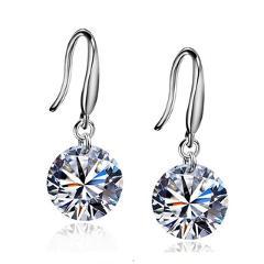 EK924 Hot Selling Lady Elegant Fashion Noble Zircon Crystal Dangle Drop Earrings For Women Jewelry Dainty Boucle Mujer Brincos