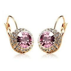 SHUANGR 12 Colors Vintage Hoop Earrings brinco New Jewelry Unique Round Small Crystal Gold Color Hoop Earring For Women Wedding