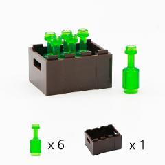 City Bottle Building Blocks Drinks Beer Beverage Wine Utensil Figure Accessories MOC Bricks Toys Compatible LegoINGlys Friends