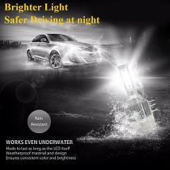 1pair H15 LED Car Headlight Kit Turbo Light Bulbs 6000K For Audi BMW Mercedes VW