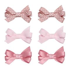 6 Pcs/set Baby Girls Hair Clips Hairpin Ribbon Bowknot Cute Baby Hair Pins Kids Clothing Accessories Wholesale New Arrival