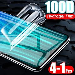 4-1Pcs 100D Protective Full Cover Hydrogel Film For Xiaomi Redmi 4X 5 Plus 7A 8A Note 8T 7 Pro Screen Protector Film Not Glass