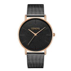 Hot Sale Ultra-thin Wrist Watch Women Men Luxury Rose Gold Mesh Stainless Steel Watches Men's Women's Watches Female Male Clock