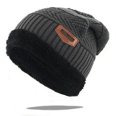Fashion warm winter hats with thick wool inside bone skullies knitted beanies men women hip hop ski cap all matched