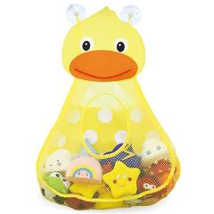Bath Toy Organizers,Cute Toddler Toy Storage Caddy,Bathtub Toy Storage Bags For Kids Baby Bathroom Quick Dry With 2 Strong Sucti