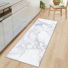 1 PC Anti-Slip Kitchen Carpet Welcome Doormat Black White Marble Printed Floor Mat Hallway Portch Rug Door Mats Outdoor
