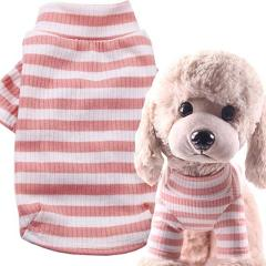 Abrrlo Pet Dog Clothes Striped Elasticity Vest Winter Dogs Shirt Costumes For Small Dogs Chihuahua Puppy Cat Accessories XS-XXL