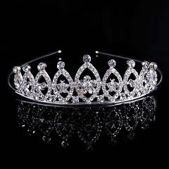 Lovely Crystal Princess Tiaras and Crowns Bridal Prom Diadem Headdress Wedding Party Hair Accessories Jewelry for Kid Girls VL