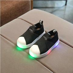Kids Shoes With Light Boys Shoes Luminous Children Canvas Sport Led Girls Princess Shoes Baby Boys Glowing Sneakers Size 21-30