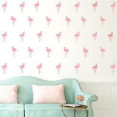 15pcs Flamingo Wall Sticker Kids Room Kindergarten Bedroom Background Decoration Wall Paster Decal Christmas Decor for Home