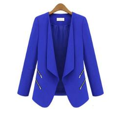 ZOGAA 2019 Hot Women Suit Blazer Office Casual Double Breasted Pocket Jacket Pure Elegant Long Sleeve Women Blazers and Coats