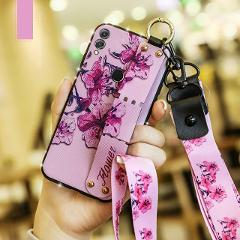 Wrist Strap Case For Samsung A50 A30 A70 M20 M10 Case Stand Holder Phone Case for Samsung Galaxy J4 J6 A7 2018 Case With Lanyard