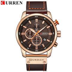 Top CURREN 8225 Brand Luxury Mens Watches Male Clocks Date Sport Military Clock Leather Strap Quartz Business Men Watch Gift