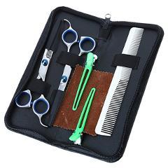 5Pcs/Set Professional Hairdressing Scissors Kit Hair Cutting Tools Hair Scissors Hair Comb Hair Clips Professional Salon Tools