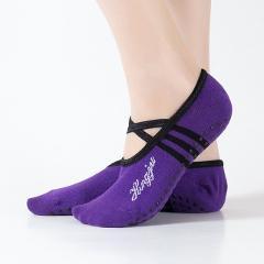 Yoga Socks Women Round Head Backless Cotton Non-Slip Bandage Sports Socks Ventilation Pilates Ballet Socks Dance Sock Slippers