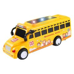 Simulation Cartoon School Bus Toys Baby Kids Funny Vehicles Car Kits Play Friction Cute collection inertia music school bus Toys