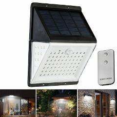 88LED Solar Voice Control Wall Light PIR Motion Sensor Garden Outdoor Yard Lamp