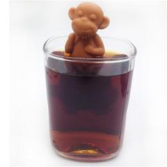 LINSBAYWU Silicone Monkey Shape Mug Cup Loose Leaf Herb Spiece Filter Tea Infuser