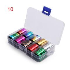 1 Box Holographic Nail Foil Set 2.5*100cm Transparent AB Color Diamond Transfer Sticker Manicure Nail Art Decals