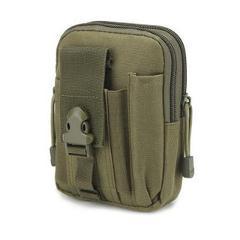 Urijk Waist Tool Bag No Belt Waterproof Casual Waist Pack Oxford Cloth Phone Pouch Work Waist Bag Army Military Small