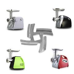 3pcs/set Mincer Knife Stainless Steel 4 Blade Square Hole Meat Grinder Parts