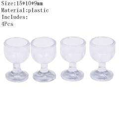 4Pcs 1/12 Mini Resin Transparent Cup Simulation Furniture Model Toys For  Decor Dollhouse Miniature Accessories 20Styles