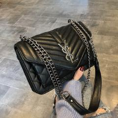 famous brand women handbags 2019 tide fashion wild simple tassel chain small square bag black lady Messenger shoulder bag