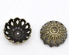 DoreenBeads 100 Bronze Tone Flower Bead Caps Findings 12x6mm (B09565), yiwu