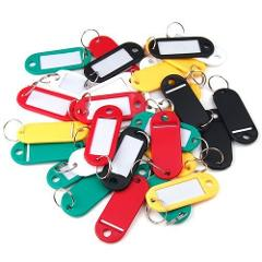 OTOKY 2018 Hot Sale 100 Pieces Plastic Key Tags Assorted Key Rings ID Tags Name Card Label For Gift Dropshipping  Apr9