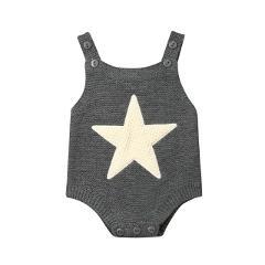 Knitted Star Heart Shape Bodysuit Babygrow Vest Newborn Infant Baby Boy Girl Bodysuit Jumpsuit Winter Outfits Set Clothes
