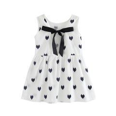 2019 Summer girl Dress Cotton Girls Sleeveless Backless Love Croc Pattern Dress