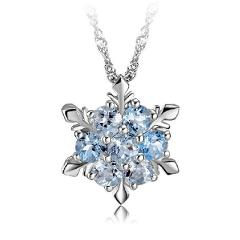Fashion Women Crystal Zircon Snowflake Pendant Necklace Jewelry Christmas New Year Gifts TT@88
