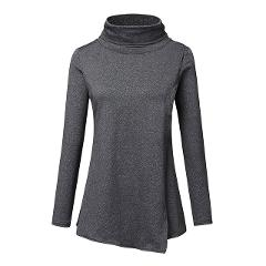 High Collar Nursing Top Winter Maternity Clothes Women Pregnant Tops Breastfeeding Clothing Long Sleeve Solid Blouse Tops Gh4