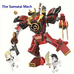 Hot Ninja The Samurai Mech Samurai Robots Model Compatible With Lego 70665 Ninjago Building Blocks Toys Bricks for Children Gift