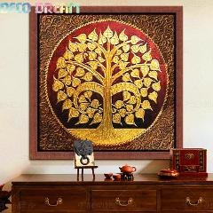 Full Diamond Painting Bodhi Tree Diy Diamond Embroidery Painting Wonderful Thai Style For Corridor Decoration A Gift For Family