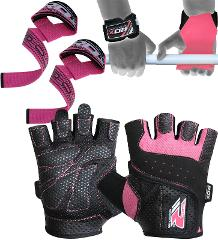 RDX Weight lifting Gloves Gym Training Straps Bodybuilding Fitness Workout 21GN