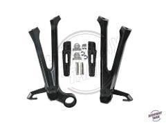 Black Motorcycle Rear Passenger Foot Pegs Footrest Bracket Kit Motor Foot Rest Pedal case for Suzuki GSXR 600 750 2011 2012 2013