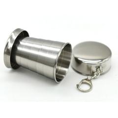 All stainless steel folding retractable cup folding cup blackjack cup