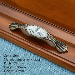 Classical Zinc Alloy Glass Pull for Dressers Bookcase Cupboard Kitchen, Drawer Storage Shoe Knob Wardrobe Door Handle and Pulls