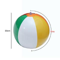 23/30/36cm Inflatable Beach Ball PVC Water Balloons Rainbow-Color Balls Summer Outdoor Beach Swimming Toys New Arrival