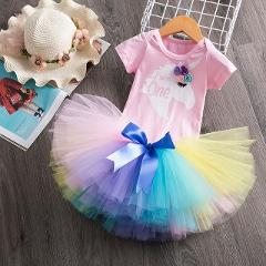 Newborn 1 Year Baby Girl Birthday Dress Outfits Clothes Unicorn Party Tutu Cake Smash Dresses Infant Christening Gowns 12 Months