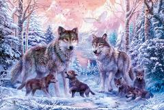 Wolf The wooden puzzle 1000 pieces ersion  jigsaw puzzle white card adult children's educational toys