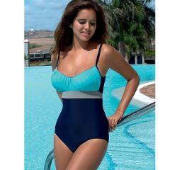 NAKIAEOI One Piece Swimsuit Plus Size Swimwear Women Swimsuit 2019 Summer Large Beach Vintage Retro Bathing Suits Swim Wear XXL