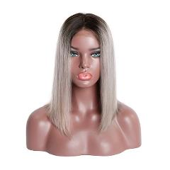 RosaBeauty 1B 613 Ombre Blonde Lace Front Human Hair Wigs For Black Women Brazilian Short Bob Straight Frontal Wigs pre plucked
