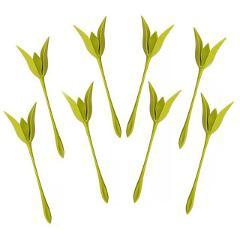 Twist Flower PP Green Napkin Holder Home Use Table Decor Party Supplies Serviette Holders 1/4/6/8 Pcs